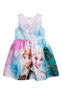 Frozon Hm 7y Sale patterned dress with bow light blue frozen sale h m us