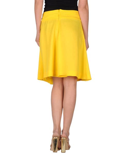 marni yellow knee length skirt lyst