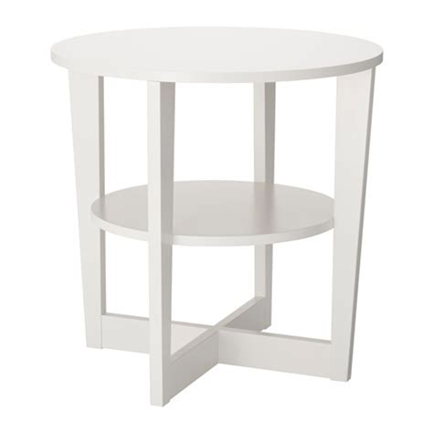 Ikea White Side Table Vejmon Side Table White Ikea