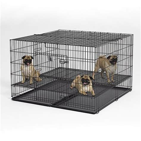 puppy playpen midwest puppy playpen model 248 10 48 quot l x 48 quot w x 30 quot h with 1 quot square floor grid