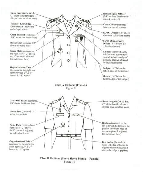 army asu class b uniform measurements the t shirt jrotc cadet uniform guide okeechobee high school jrotc