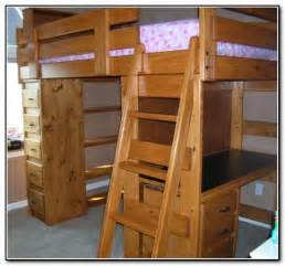 wood bunk beds with desk and dresser beds home