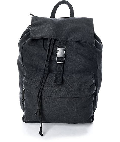 Canvas Backpack Black rothco black canvas backpack zumiez