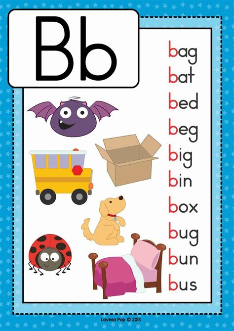 Letter Phonics free phonics letter of the week b beginning b cvc words