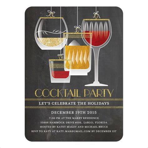 free templates for cocktail invitations 19 stunning cocktail party invitation templates designs