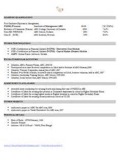 Financial Analyst Mba Resume by How To Write An Excellent Resume Sle Template Of An