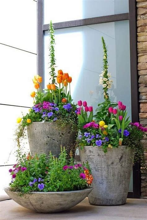 spring  great diy flower pot ideas  front