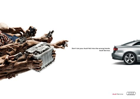 car service ad audi print advert by thjnk battery ads of the world