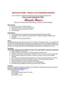 resident manager cover letter resident manager resume