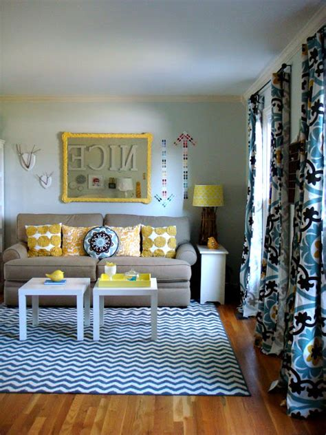 blue and yellow living room curtains home decorating ideas 2016 2017