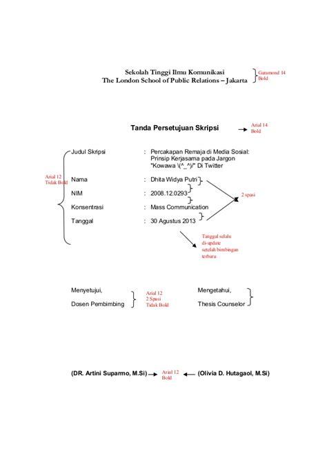 format skripsi spasi buku panduan skripsi nonskripsi 2013