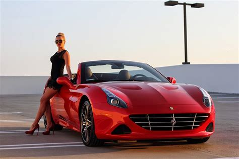 Ferrari Girls by Ferrari California T And Sexy Blonde Create Modern Pinup