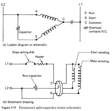 permanent capacitor run motor permanent split capacitor motor