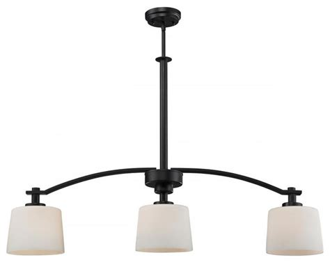 three light rubbed bronze matte opal glass island