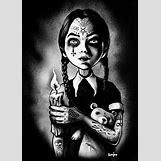 Wednesday Addams Drawing   500 x 700 jpeg 123kB