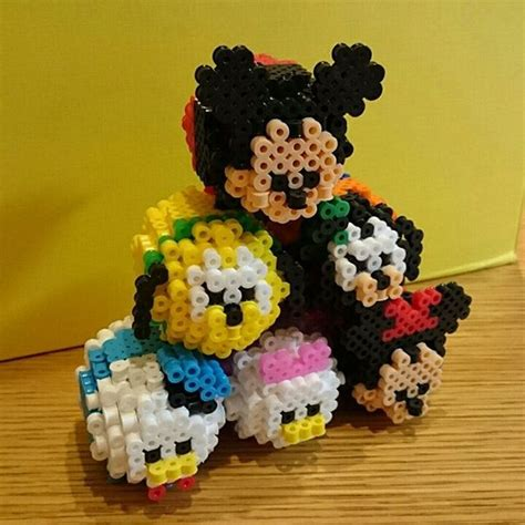 Hama Tsum Mickey Keychain 3d tsum tsum mickey mouse and friends perler by soyake nahte perler