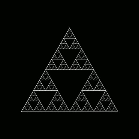 triangle pattern in python the sierpinski triangle tumblr