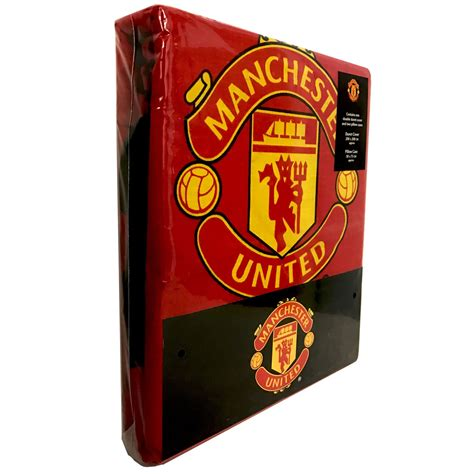 Manchester United Bed Set Manchester United Fc Fade Duvet Cover Set Official Football Bedding New Ebay