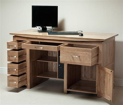big computer desk tokyo natural solid oak large computer desk office furniture