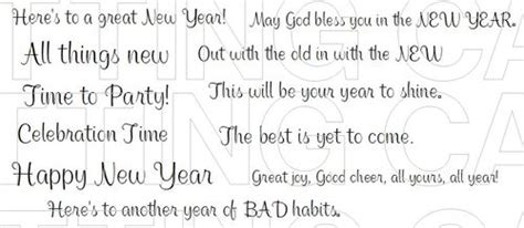 the cutting cafe new year sentiments printable set