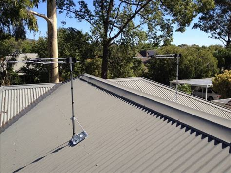 how to install tv antenna roof mount roof fence futons