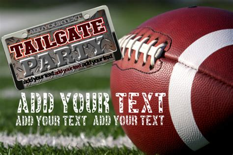 tailgate party event football game flyer template postermywall