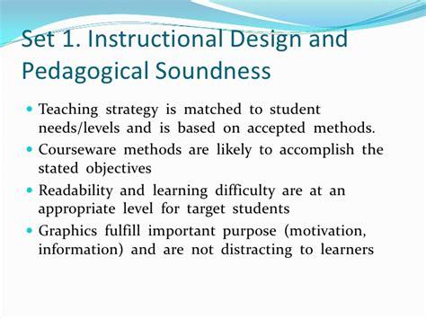 instructional design criteria checklist google sketch up software evaluation report