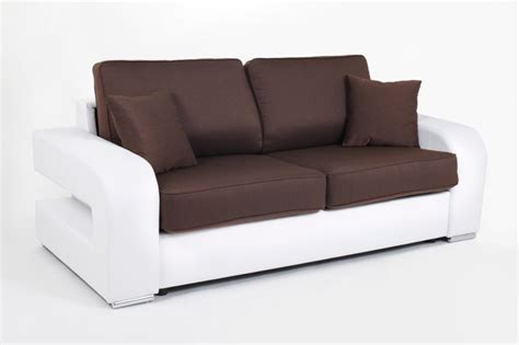 canape convertible couchage 140 cm alban wilma blanc