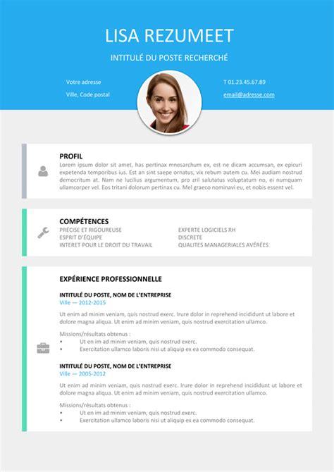 Cv Curriculum Vitae Gratuit by Le Marais Mod 232 Le De Cv Moderne Rezumeet