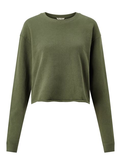 Cropped Sweatshirt khaki cropped sweatshirt miss selfridge