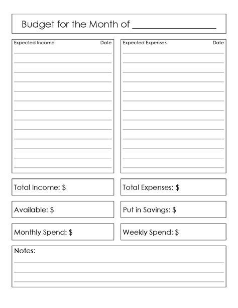 basic budget worksheet for adults the broketastic december 2015
