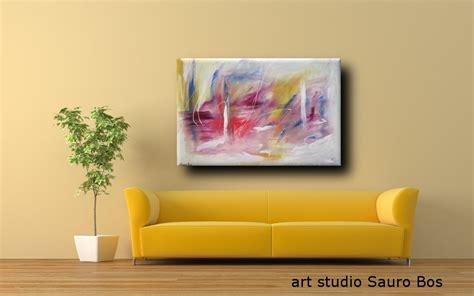 quadro per soggiorno quadro astratto per soggiorno rossoe giallo sauro bos
