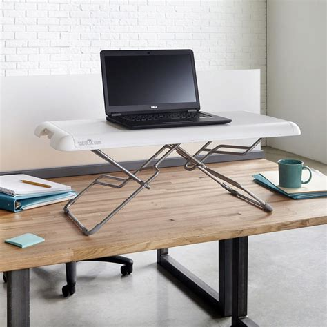 standing laptop desk shop standing desk products varidesk sit to stand desks