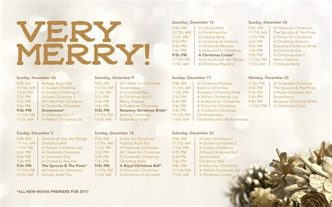 printable schedule of hallmark christmas movies dvd talk forum it s beginning to look a lot like the