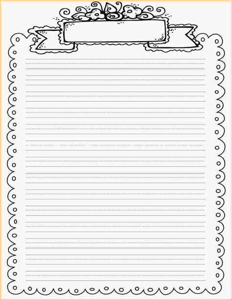 Free Writing Paper Template With Borders