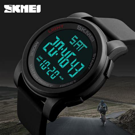Jam Tangan Digital 5 skmei jam tangan digital pria dg1257 green jakartanotebook