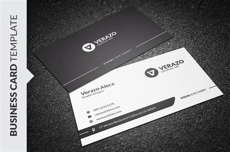 Clean Black Amp White Business Card Business Card