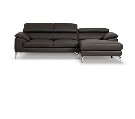gray leather sectional couch dreamfurniture com amafi modern leather grey sectional