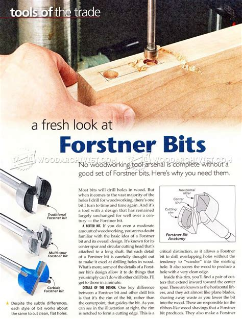 woodworking tips forstner bits woodworking tips woodarchivist