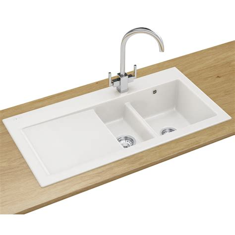 Taps Kitchen Sinks Franke Mythos Designer Pack Mtk 651 Ceramic White Sink And Tap 124 0050 121