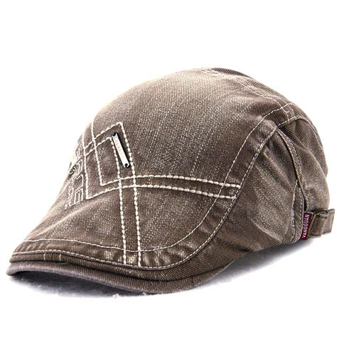 Embroidery Beret unisex cotton washed embroidery beret hat duckbill golf