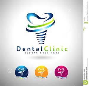 dental implants logo stock vector image 58253635