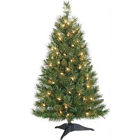 pre lit 3 ft small and colorful artificial christmas tree