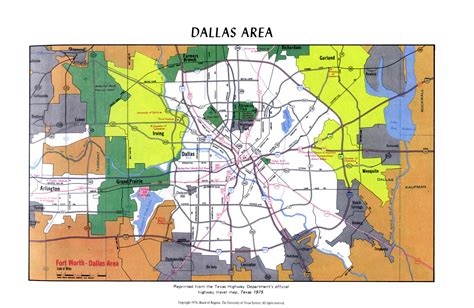 map of dallas county texas dallas area map
