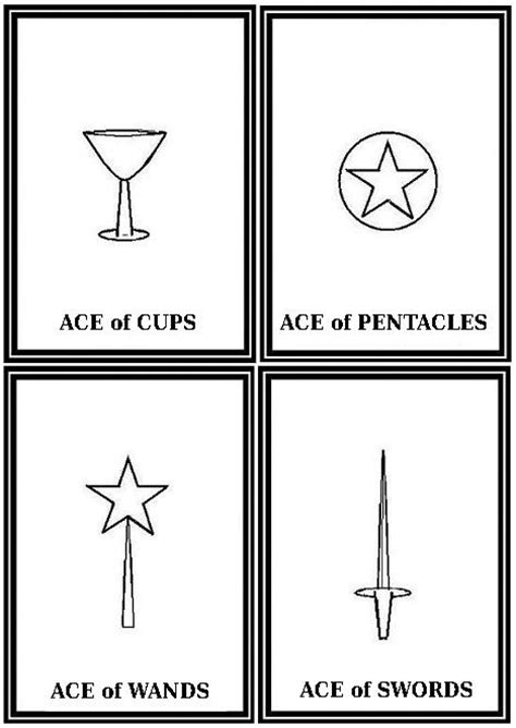 printable tarot cards to color free printables