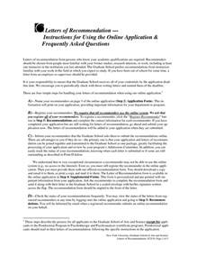 College Of Wisconsin Letter Of Recommendation Recommendation Letter For Graduate School Custom College Papers