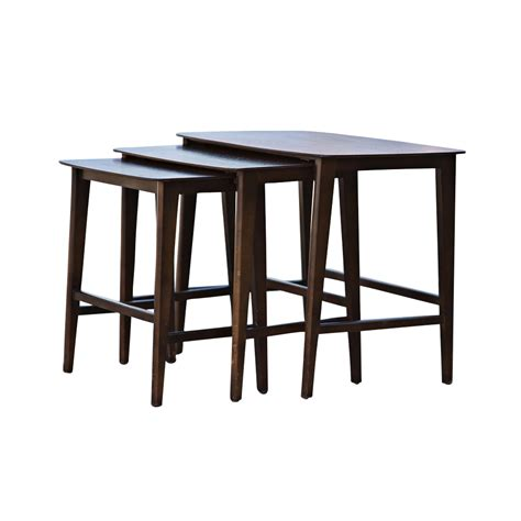 nesting tables mid century modern set of 3 nesting tables mr12452 ebay