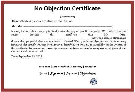 refrence noc letter format from employer fresh sample no objection