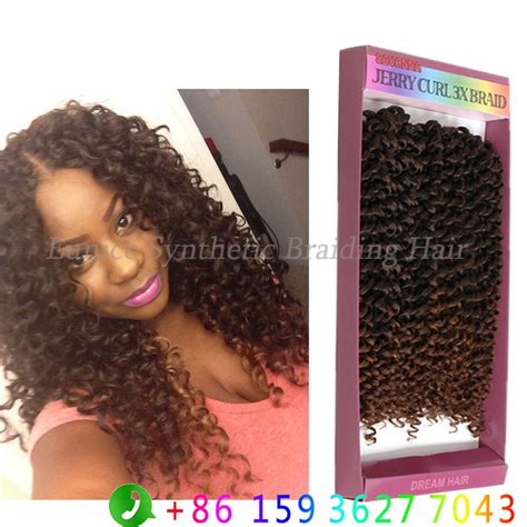 jerry curl weave and cornrows hairstyle synthetic freetress jerry curl hair weave crochet twist 3x