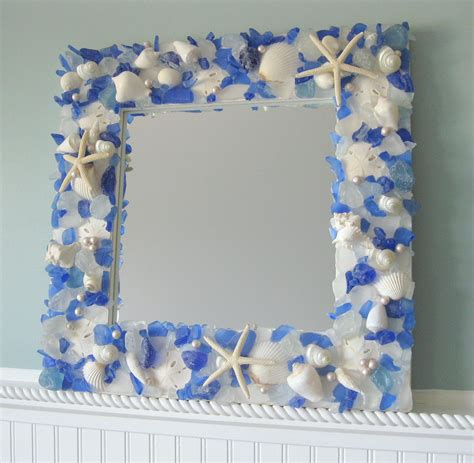 mirror frame decorating ideas seashell mirrors for beach decor nautical shell mirrors